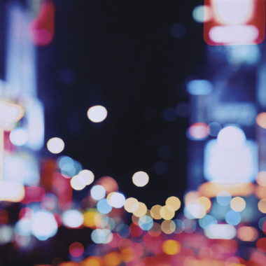 USA, New York City, Broadway, Times Square at night (defocussed)